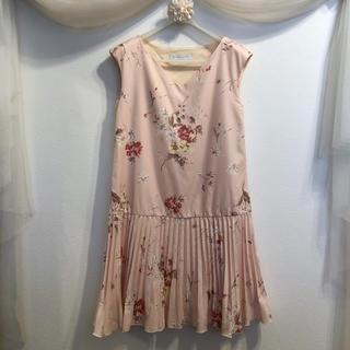 MERCURYDUO - 【MERCURYDUO】ワンピ/ピンク/花フラワー/プリーツ/ノースリーブ