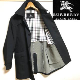 BURBERRY BLACK LABEL - 希少!BURBERRYバーバリーブラックレーベルノバチェック ステンカラーコート