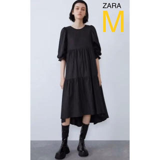 ZARA - ZARA ザラ プリーツ入りアシンメトリーワンピース