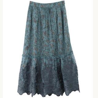 axes femme - axes femme Nostalgie 花柄×刺繍ギャザースカート