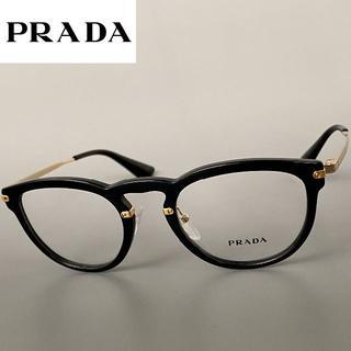 PRADA - 【新品】◆PRADA◆VPR02V◆プラダ ブラック ゴールド ボストン メガネ
