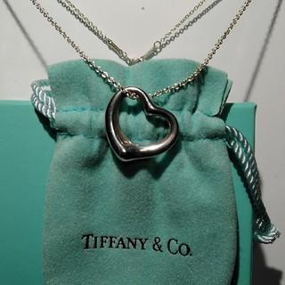 Tiffany & Co. - ティファニーオープンビッグハートペンダント箱袋、メンテナンスキット付