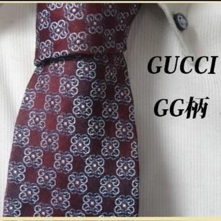 Gucci - 極美品★グッチ★GUCCI【妖艶に輝くGG柄】最高級ネクタイ★
