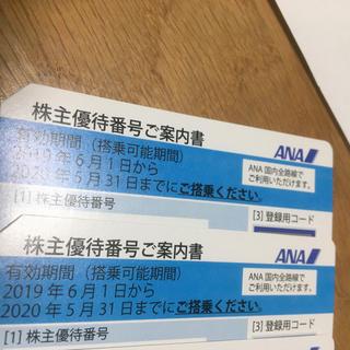 ANA株主優待券 2枚セット 全日空 割引券 優待