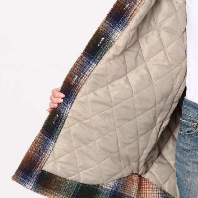 Ungrid(アングリッド)のungrid シャギーチェックルーズアウター レディースのジャケット/アウター(ブルゾン)の商品写真