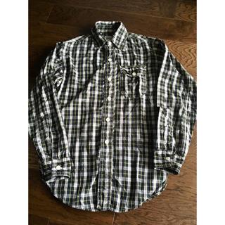 ポストオーバーオールズ(POST OVERALLS)のpost overalls チェックシャツ チンストラップ付き vintage (シャツ)