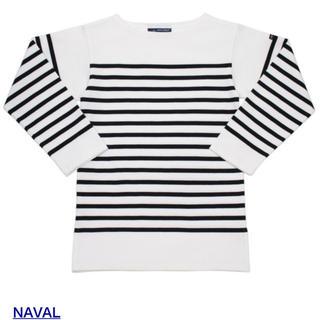 セントジェームス(SAINT JAMES)の【SAINT JAMES】ナヴァル  白×黒 T3(Tシャツ(長袖/七分))