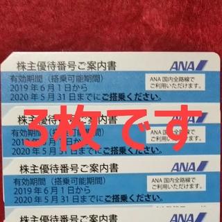 ANA(全日本空輸) - ANA 株主 優待券 3枚セット①