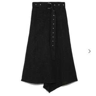 Mila Owen - ミラオーエン  麻素材フロントドレープスカート