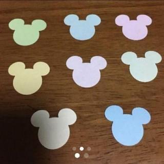 Disney - ミッキー フラワーシャワー 約190枚 パステルカラー