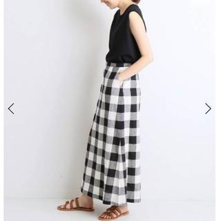IENA SLOBE - ギンガムチェックサイドスリットスカート