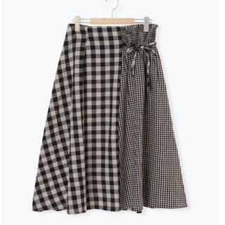 SM2 - 【新品タグ付】SM2 綿麻ギンガムチェック切替アシメスカート