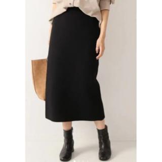 FRAMeWORK - FRAMeWORK フレームワーク ニットスムースタイトスカート 黒 ブラック