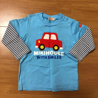 mikihouse - ミキハウス 車 ロンT 長袖 80