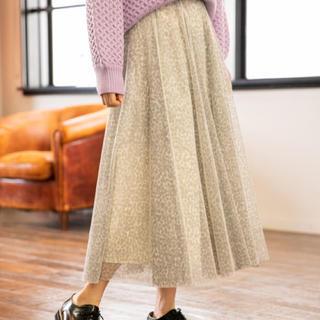 mysty woman - チュールフレアロングスカート