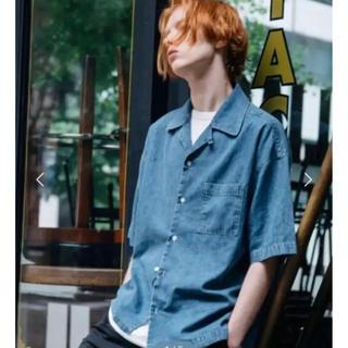 HARE - 【70%OFF‼️】lidnm ケミカルウォッシュオープンカラーシャツ カイキン
