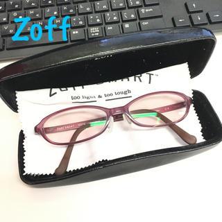 ゾフ(Zoff)の【美品】ブルーライトカット パソコン用メガネ 度なし サングラス PCめがね(PC周辺機器)