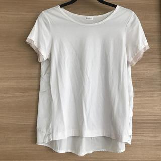 プラステ(PLST)のTシャツ 後ろ切り替えTシャツ(Tシャツ(半袖/袖なし))