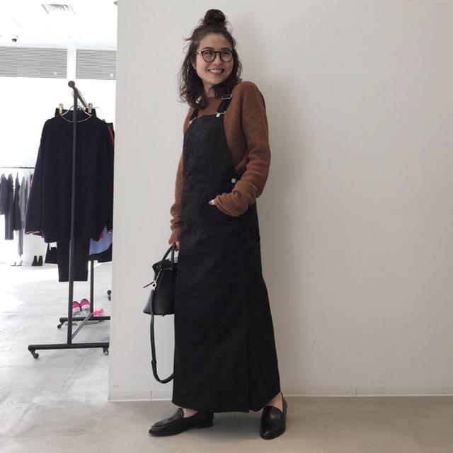 L'Appartement DEUXIEME CLASSE(アパルトモンドゥーズィエムクラス)の新品 アパルトモン ユニオンランチ コーデュロイ オーバーオール スカート 34 レディースのパンツ(サロペット/オーバーオール)の商品写真