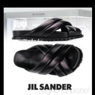 ジルサンダー(Jil Sander)のJIL SANDER レザー サンダル(サンダル)