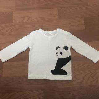 MUJI (無印良品) - 無印 パンダ柄ロングTシャツ