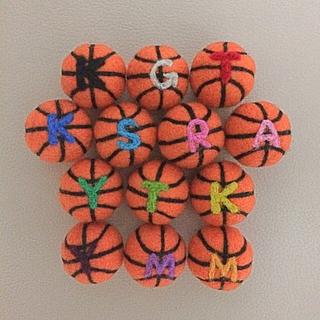 羊毛フェルト バスケットボールストラップ その他のその他(オーダーメイド)の商品写真