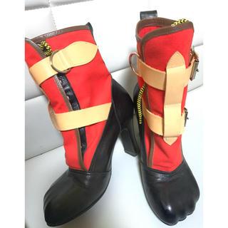 Vivienne Westwood - 2度着用 UK5 アニマルトゥ ボンデージブーツ 赤