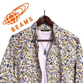 BEAMS - BEAMS リバティシャツ長袖シャツ 総柄シャツ 小花柄シャツ カッターシャツ