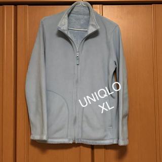 ユニクロ(UNIQLO)のユニクロ UNIQLO 裏起毛 フリース XL ブルー レディース  (トレーナー/スウェット)