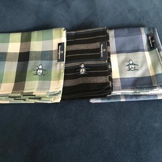 マンシングウェア(Munsingwear)のMunsing マンシング ハンカチ 3枚(ハンカチ/ポケットチーフ)
