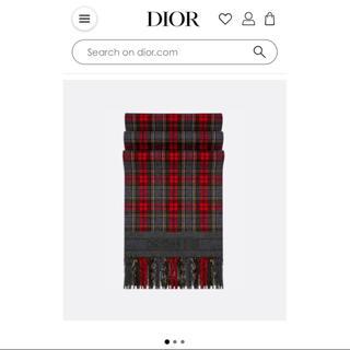 Christian Dior - 2019 ディオール タータンチェック チェック ストール マフラー クリスマス