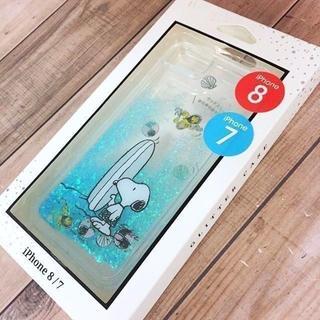 SNOOPY - スヌーピー iPhone8/7 兼用 グリッター スマホケース C