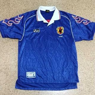asics - 98年フランスW杯日本代表レプリカユニフォーム ナンバーなし アシックス製 L