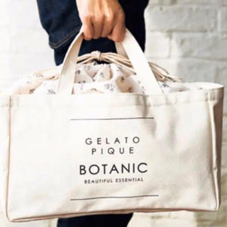 gelato pique - &ROSY付録 ジェラートピケボタニカルフラワー柄 巾着型ストックバッグ