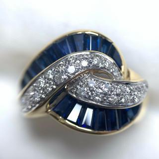 ●Le VIAN k18/wg ダイヤモンド サファイア リング(リング(指輪))