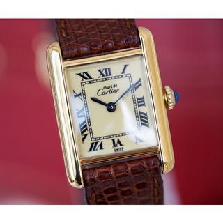 Cartier - 美品 カルティエ マスト タンク アイボリー 手巻き SM Cartier