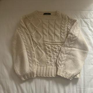 w closet - ケーブルニット セーター