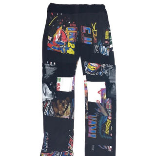 1/1 most people are dead patchwork pants