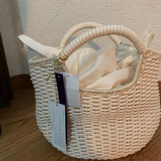 SCOT CLUB - 新品スコットクラブ購入プラ編み巾着カゴバッグ白定価15120