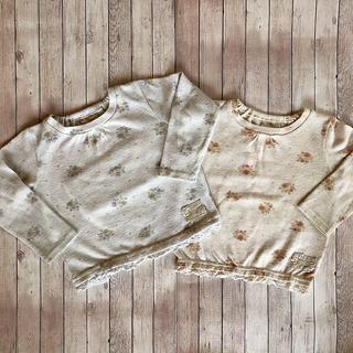 ビケット(Biquette)のビケット 長袖カットソー双子、二枚セット(Tシャツ/カットソー)