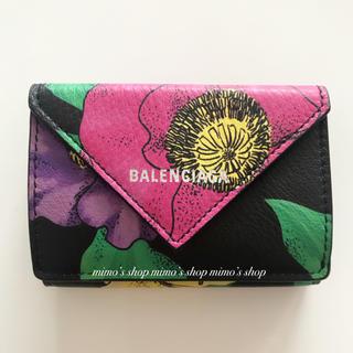 Balenciaga - 大人気☆新品未使用☆BALENCIAGA☆フローラルプリント ミニウォレット