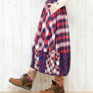 titicaca - チチカカ バルーンスカート 赤 チェック
