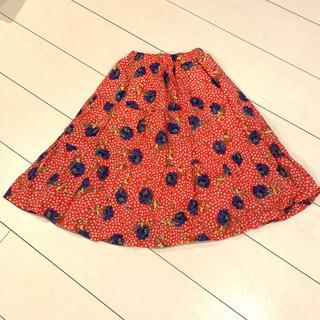 MARKEY'S - Marky's 赤 花柄 ロングスカート