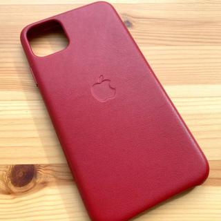 Apple - iPhone 11pro  Maxレザーケース純正