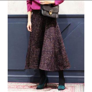 IENA - IENA LA BOUCLE  ツィードボリュームフレアスカート