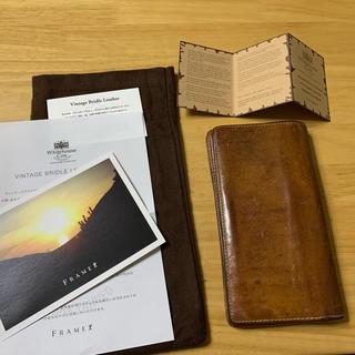 ホワイトハウスコックス(WHITEHOUSE COX)のホワイトハウスコックス ヴィンテージ ブライドルレザー  ナチュラル ロング財布(長財布)