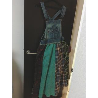 titicaca - ☆デニム☆サロペットスカート