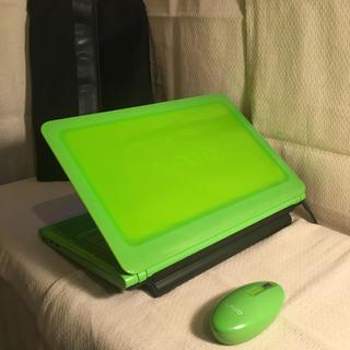 SONY - ブルーレイ搭載 グリーンのバイオ 純正マウス&バッグ 超速&大容量 Win10