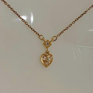 agete - K10 ダイヤモンド アガット ネックレス ★約40cm ★10金