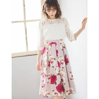 GRL - GRL グログラン花柄スカート